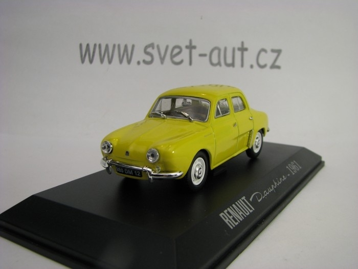 Renault Dauphine 1961 Yellow 1:43 Atlas